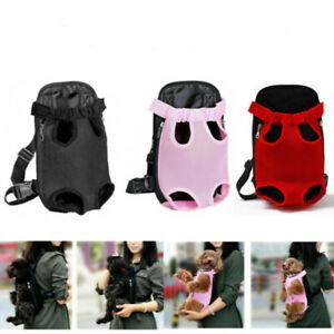 Nylon Pet Carrier Backpack Front  Dog Cat Chest Bag Outdoor Sling Travel Bag