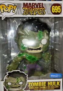 "FUNKO POP!  Marvel Zombie HULK  #695 10"" Walmart Exclusive"