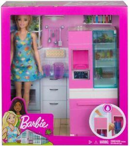 Barbie Kitchen Fridge Doll Playset