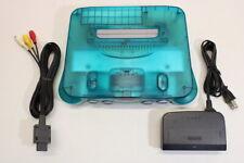 NINTENDO 64 Limited Clear Blue & White Console OEM AC AV N64 PLAY US JAPAN J749