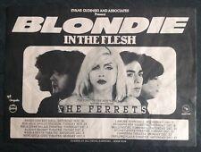 Blondie In The Flesh Mega Rare ORIGINAL 1977 Australian Tour Flyer Punk New Wave