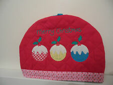 GISELA GRAHAM SHABBY CHIC COUNTRY ANGEL CAKES RED CHRISTMAS TEA COSY
