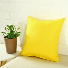 Square Cushion Cover Case Decor Sofa Home Office Throw Pillow Case Solid Cotton