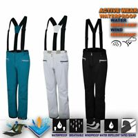 Womens Ski Trouser Lightweight Waterproof Snow Pant Snowboard Salopettes Antedat