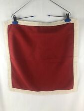 Pottery Barn Bordered Linen Pillow Covers 2-18x18 Red w/beige border