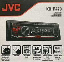 NEW JVC KD-R470 AM/FM/CD Single DIN Car Stereo Receiver, USB & AUX Input