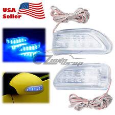 2Pcs Universal Blue LED Car Side Rear Mirror Turn Signal Indicator Light FG36