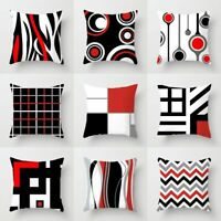 "18""Creative Geometric Polyester Pillow Case Waist Throw Cushion Cover Home Decor"