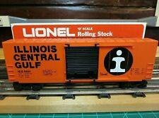 """LIONEL 6-9601 O27 Scale HI-CUBE Boxcar """"Illinois Central"""""""