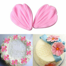 Silicone Petal Flower Veiner Chocolate Sugarcraft Cake Decor Mold Fondant Mould