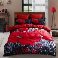 Egyptian Comfort Ultra Soft 3 Piece Duvet Cover Set for Comforter  Red Flower