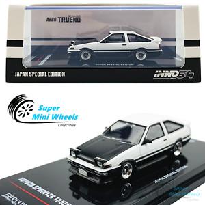 INNO64 1:64 Toyota Sprinter Trueno AE86 (White) w/ Extra Wheels  Special Edition