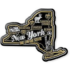 New York the Empire State Premium Map Fridge Magnet