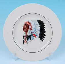 Unusual Variation Lenox Indian Chief Portrait Plate Porcelain Native American