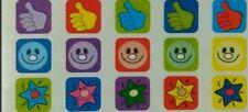 60 REWARD STICKERS x1 sheet; Bright Colours,Dentist,Parent,Boys, Girls MINI 003