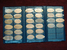 "32 Diff. ""Rolled"" ""Elongated Lincoln Cents - All Cont. U.S. - With Custom Holder"