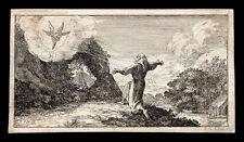 santino incisione 1600 S.FRANCESCO D'ASSISI,LE STIMMATE.
