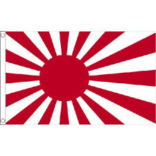 Japan Rising Sun Large Flag 8Ft X 5Ft Japanese Country Banner With 2 Eyelets