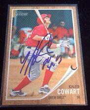 KALEB COWART 2011 TOPPS HERITAGE Autographed Signed AUTO Baseball Card 90 OWLZ
