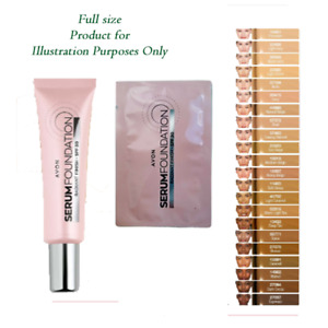 Avon Serum Foundation SPF 30 Radiant Finish SAMPLES NEW Out- choice of 17 shades