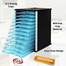 12 Tray Electric Dehydrator Food Dryer Machine Biltong Beef Jerky Fruit Snack