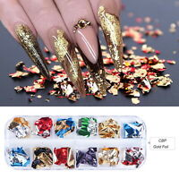 Nail Sequins Aluminum Irregular Flakes Mirror Glitter Foil Nail Art Decoration
