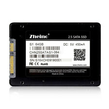 """Zheino S1 64GB SSD  2.5"""" SATA3 SSD For Lenovo Dell HP ASUS Acer Laptop"""
