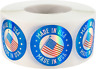 Made in USA Labels Holographic 1 Inch Round Circle Dots 500 Adhesive Stickers