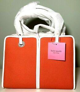 Kate Spade New York Sam Canvas Plunge Medium Satchel Juicy Orange One Size $198