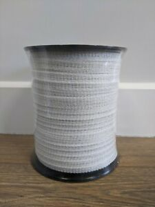 10mm 200 Metre White Electric Fence Poly Tape - Fencing Horse Paddock - ECONOMY