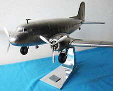 Douglas Aircraft DC-3 Aluminum Scale Model Airplane