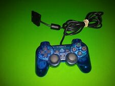 Sony Playstation 2 PS2 Dualshock 2 Wired Controller SCPH-10010 - Ocean Blue