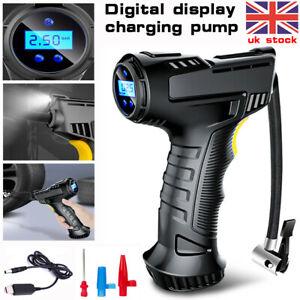 12V LCD Digital Auto Car Tyre Inflator Cordless Handheld Air Compressor Pump UK