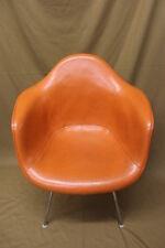 RARE Late 50's Eames Herman Miller Charles Eames Vinyl DAX Orange Armshell (2)
