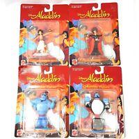 1992 Mattel Disney's Aladdin Jafar Genie PVC Figures Lot of 4