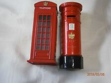 Toy Banks - London Telephone Booth and London Postal Box