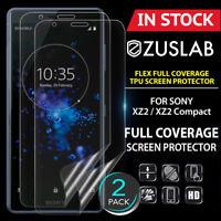 2 X SONY XZ2 XZ2 Compact ZUSLAB Flex Full Coverage Soft TPU Screen Protector