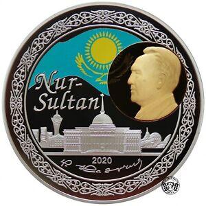Kazakhstan: 1000 Tenge 2020. Nur-Sultan. PROOF. Bimetallic Au+Ag. 2Oz