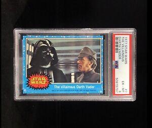 1977 Topps Star Wars #7 The Villainous Darth Vader PSA 6