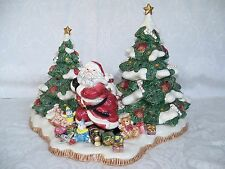 Fitz & Floyd  President's Collection Limited Edition Christmas Santa Centerpiece