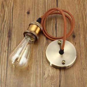 Vintage Retro Pendant Light Fitting E26 E27 Industrial Hanging Lamp Holder Kit