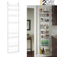 Pantry Door Spice Rack Wall Mount Organizer Shelf Storage Kitchen Space Saver