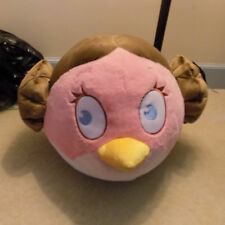 "Jumbo Big 16"" Angry Birds Star Wars Pink Stella Princess Leia Plush Pillow Rovio"