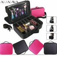 Professional Makeup Bag Cosmetic Case Storage Handle Organizer Travel Kit US NEW