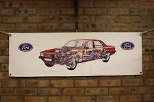 ford cortina mk5 mkv  large pvc banner  garage  work shop man cave classic show