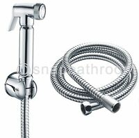 Chrome Bidet Shattaf Douche Spray Hygienic Toilet Shower Head Hose Set Muslim