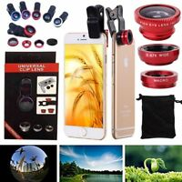 Universal 3IN1 Camera Lens Wide Angle Macro Lens Clip on Fish Eye For Cellphone