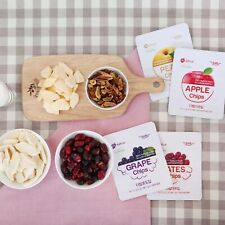 TheBab 100% Korean Sugar Free Real Fruit Chips Apple Grape Jujube Pear 4 Flavors
