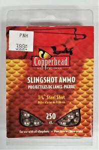 "Copperhead by Crosman 250 ct. 1/4"" Caliber Steel Slingshot Ammo"