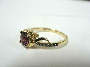 14K Yellow Gold Le Vian Raspberry Amethyst Chocolate Diamond Ring